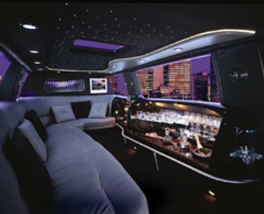 Ford Excursion stretch interior view
