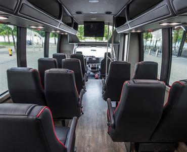 Ford E450 interior view